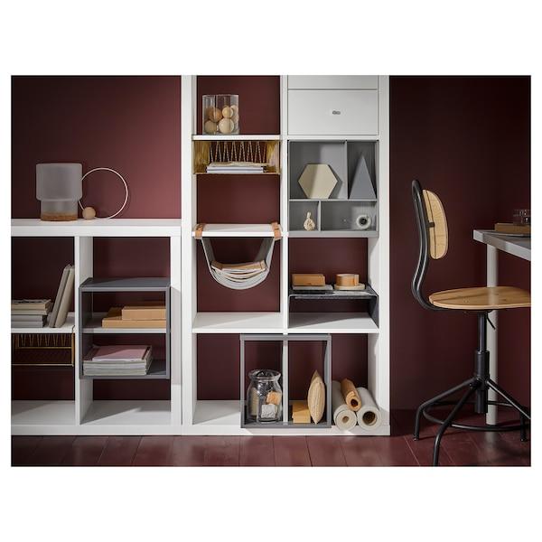 KALLAX Shelf insert, light grey