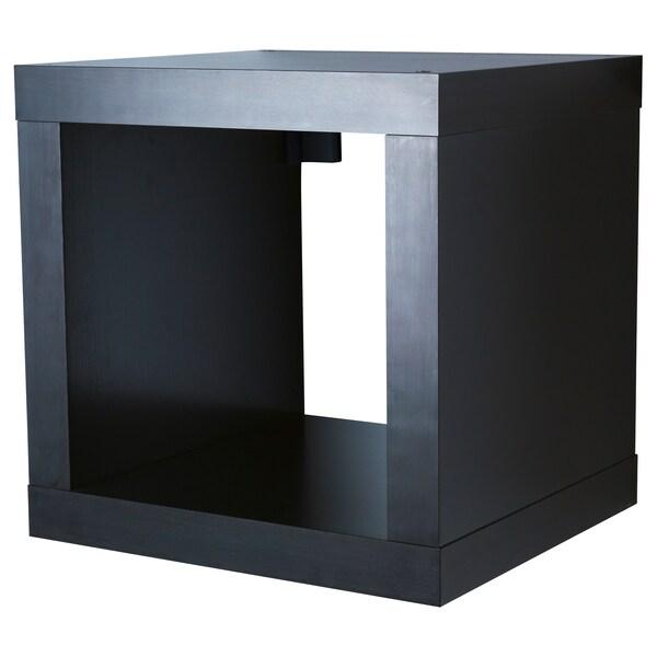 KALLAX Shelving unit, black-brown, 42x42 cm