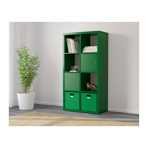 kallax shelving unit green 77x147 cm ikea. Black Bedroom Furniture Sets. Home Design Ideas
