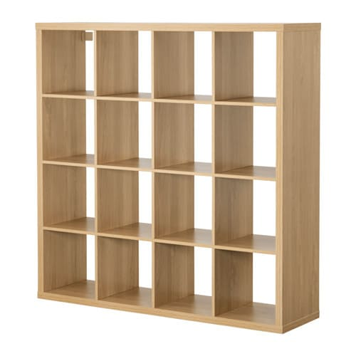 kallax shelving unit oak effect 147x147 cm ikea. Black Bedroom Furniture Sets. Home Design Ideas