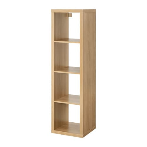 Kallax Shelving Unit Oak Effect 42 X 147 Cm Ikea