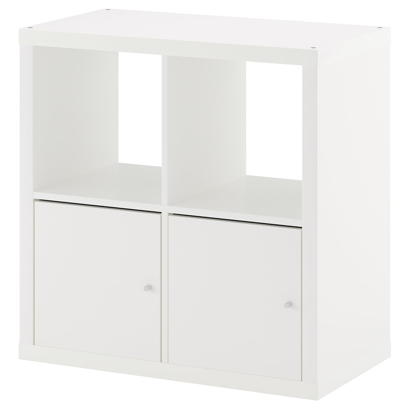kallax shelving unit with doors white 77x77 cm ikea. Black Bedroom Furniture Sets. Home Design Ideas
