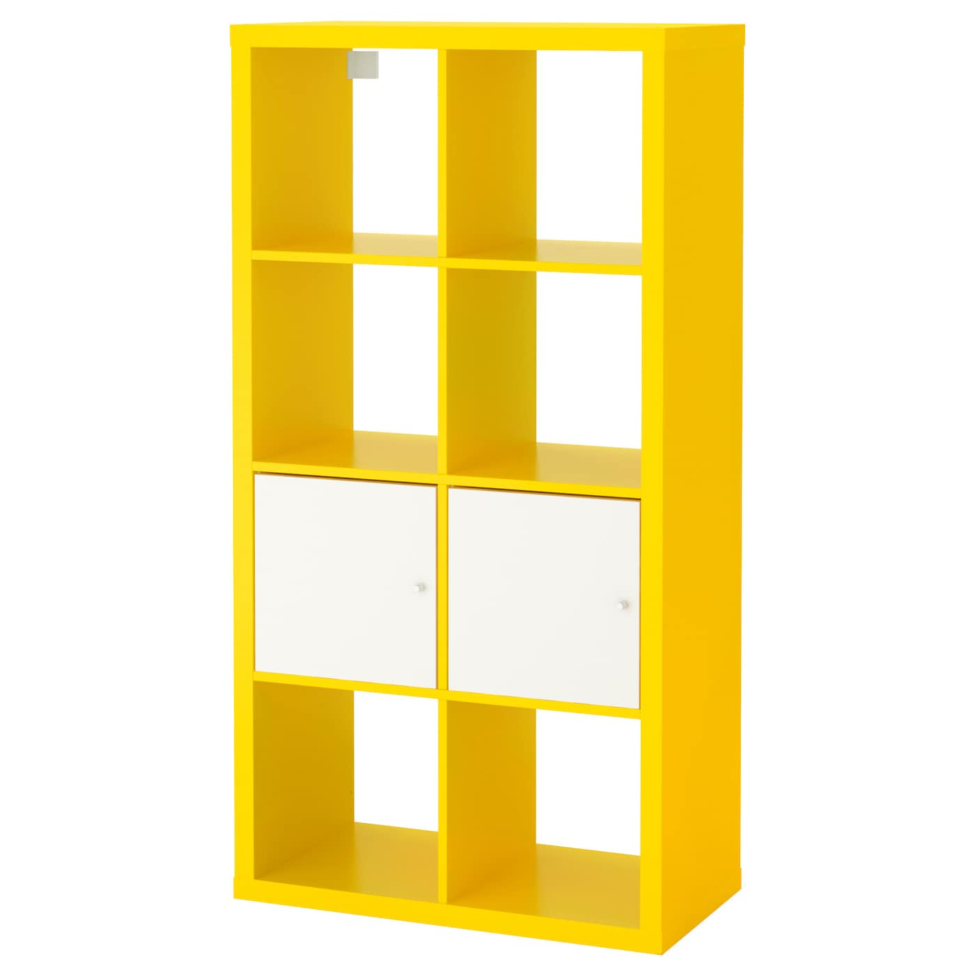 IKEA KALLAX shelving unit with doors Easy to assemble.