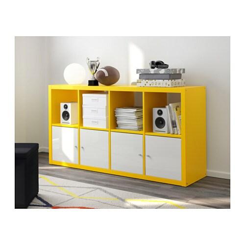 Kallax Shelving Unit Yellow 77x147 Cm Ikea
