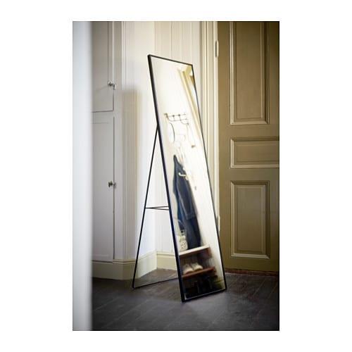 KARMSUND Standing mirror Black 40×167 cm