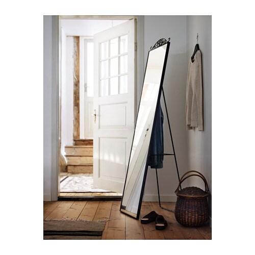 Karmsund standing mirror black 40x167 cm ikea for Ikea stand miroir