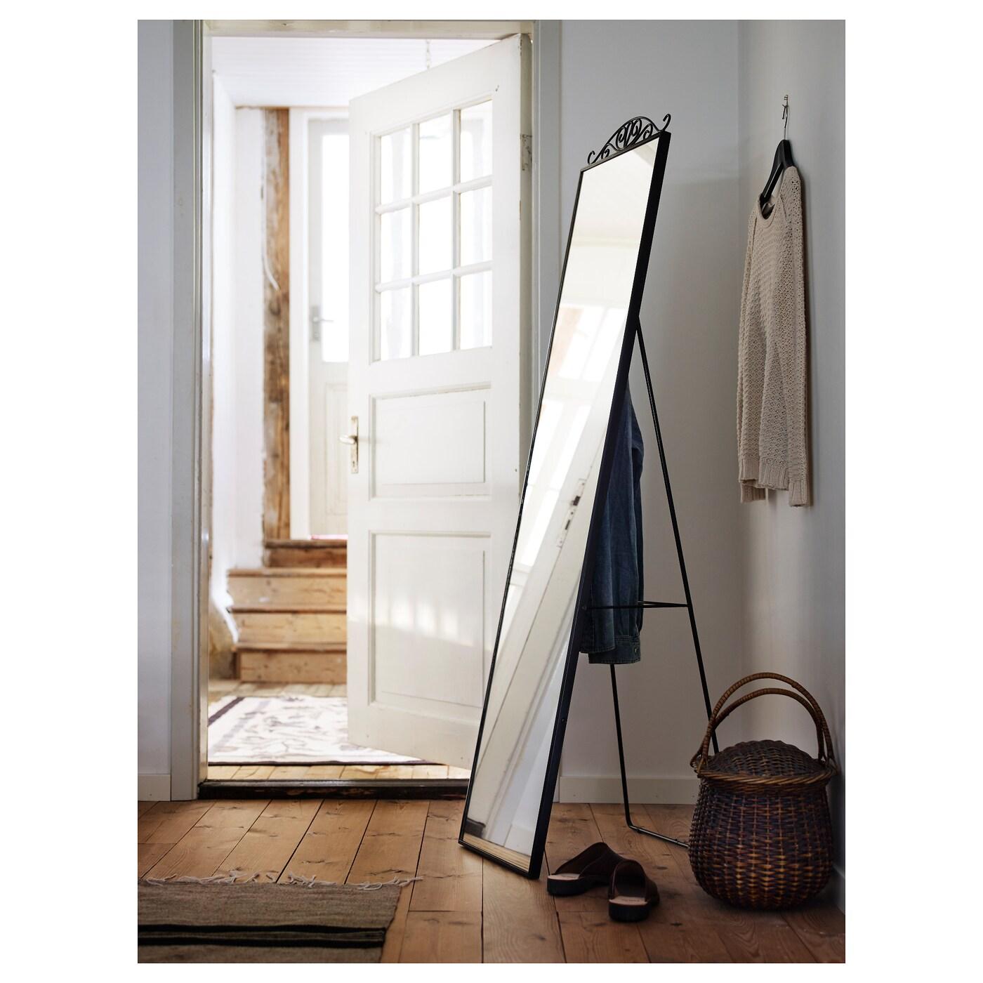 Karmsund Standing Mirror Black 40 X 167 Cm Ikea