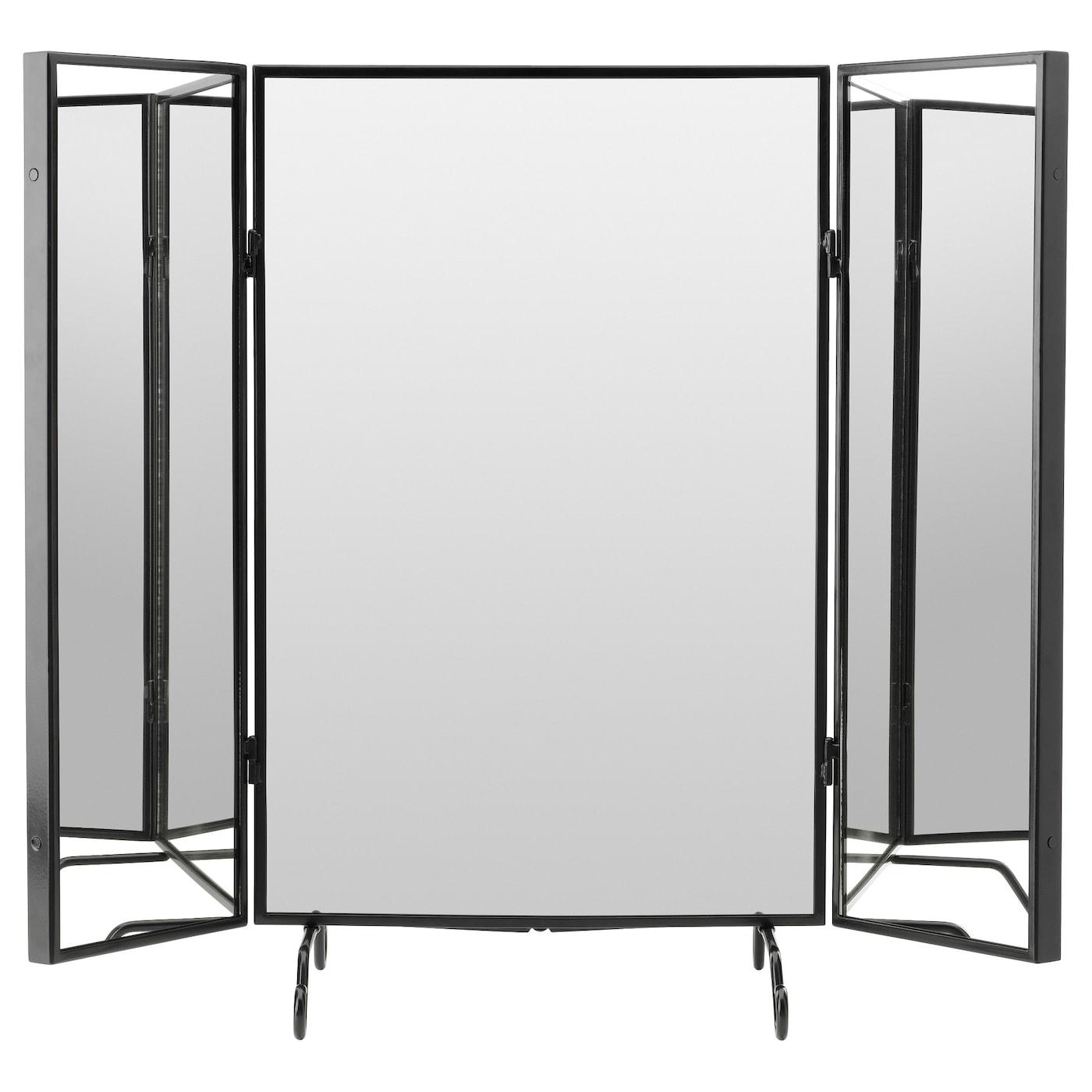 Karmsund table mirror black 80x74 cm ikea - Table angle ikea ...