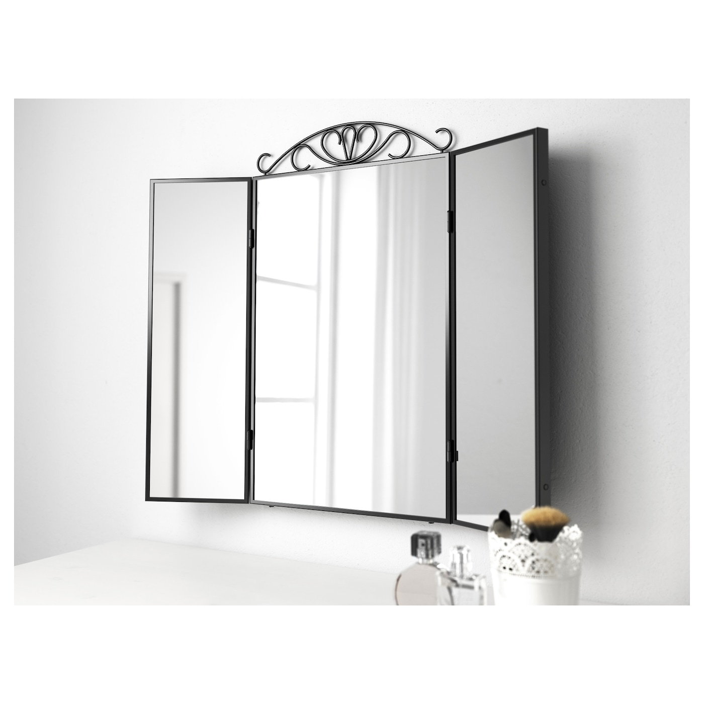 karmsund table mirror black 80x74 cm ikea