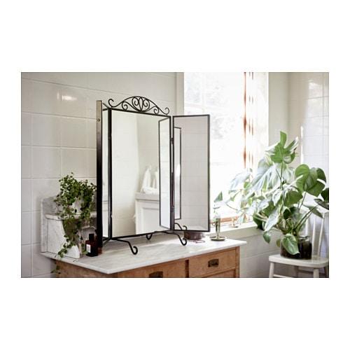 Karmsund table mirror black 80x74 cm ikea for Miroir karmsund