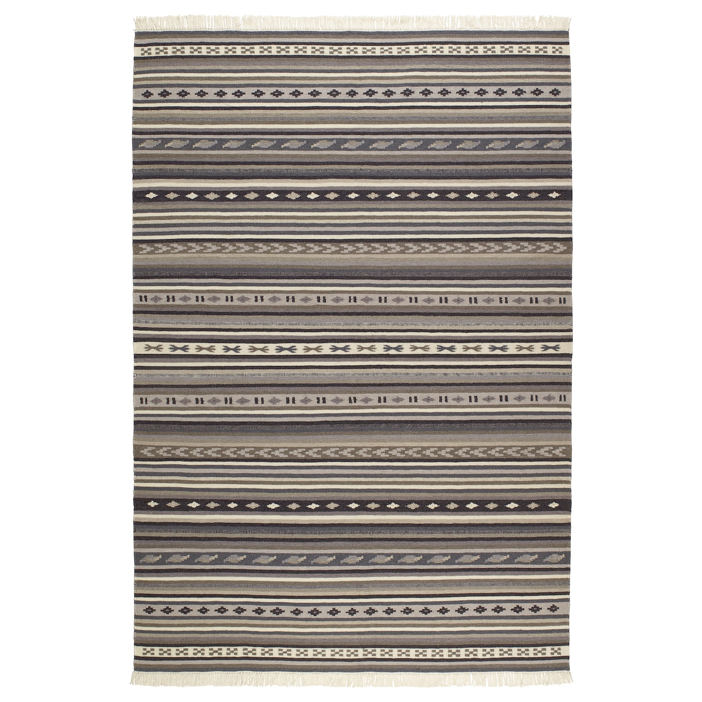 IKEA KATTRUP rug, flatwoven Easy to vacuum thanks to its flat surface.