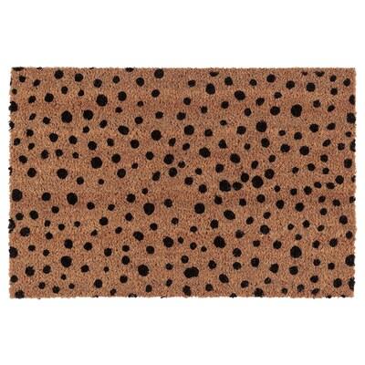 KERTINGE Door mat, indoor, dot pattern/natural black, 40x60 cm