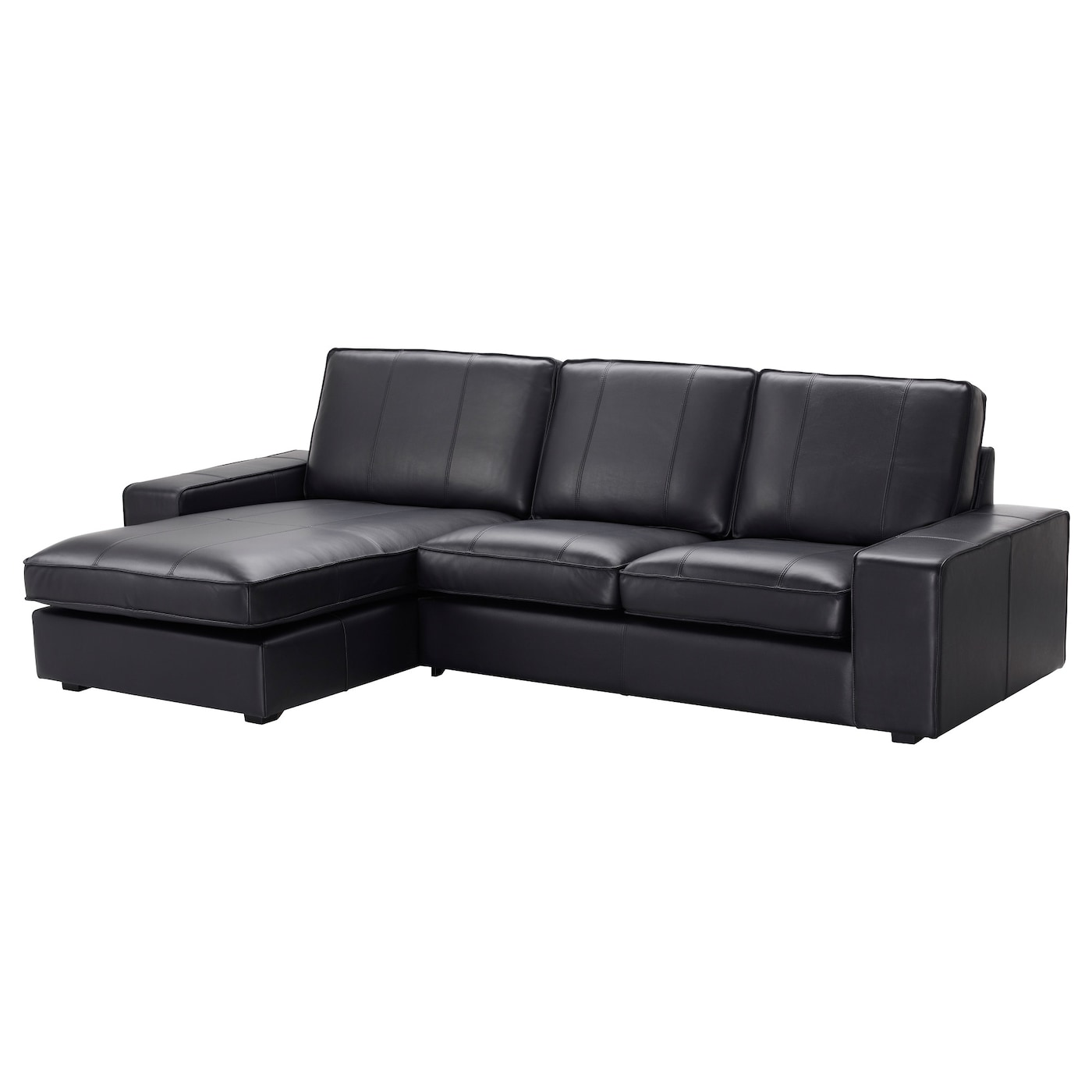 KIVIK 3 seat sofa With chaise longue grann bomstad black IKEA