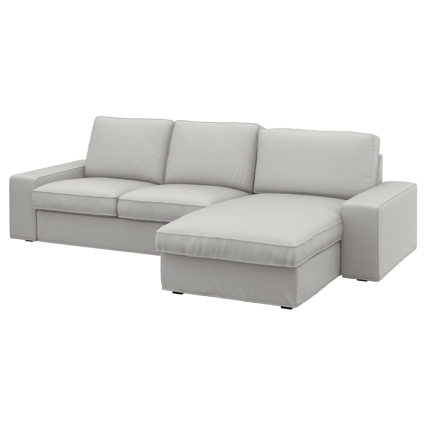 Kivik 3 Seat Sofa With Chaise Longue Ramna Light Grey Ikea Ireland