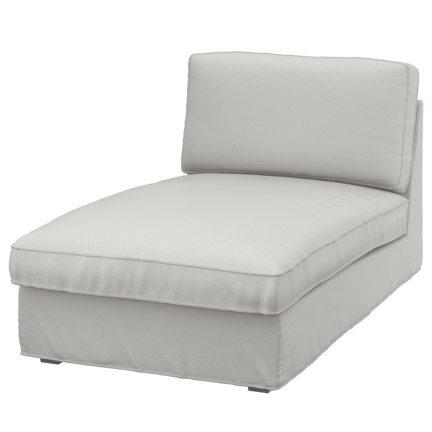 Kivik chaise longue ramna light grey ikea for Chaise longue en toile pliante