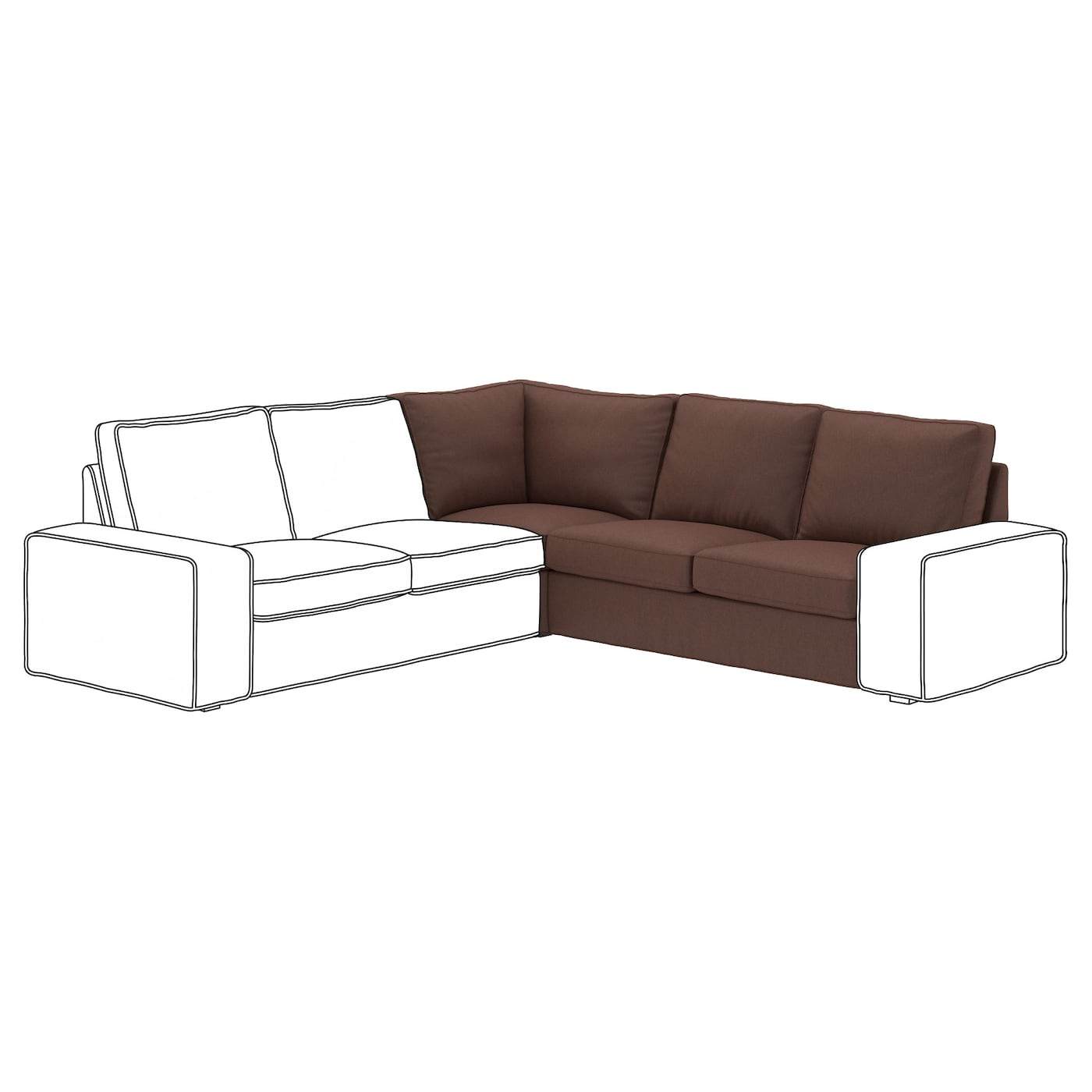 Kivik corner section borred dark brown ikea - Kivik corner section ...