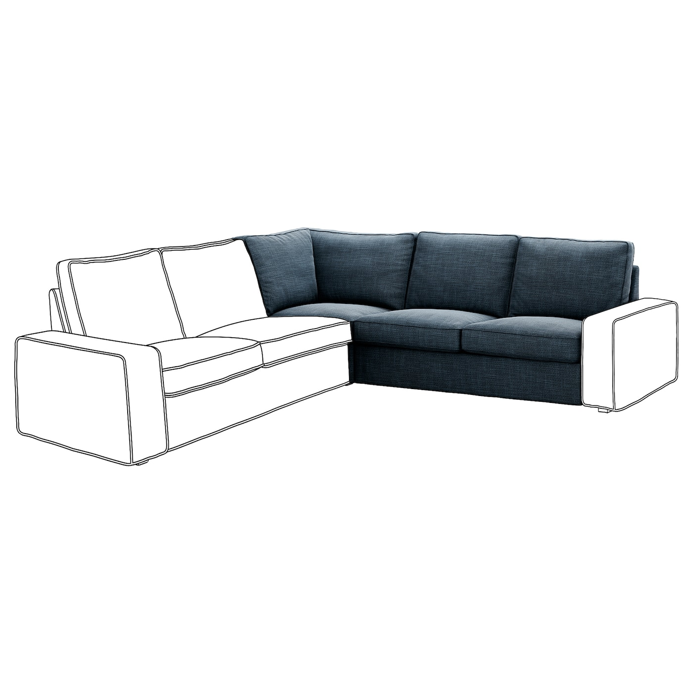 IKEA KIVIK corner section 10 year guarantee. Read about the terms in the guarantee brochure.