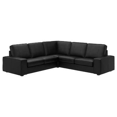KIVIK Corner sofa, 4-seat, Grann/Bomstad black