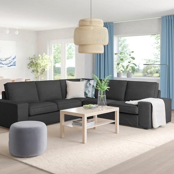 KIVIK corner sofa, 4-seat Hillared anthracite 95 cm 83 cm 257 cm 257 cm 60 cm 45 cm