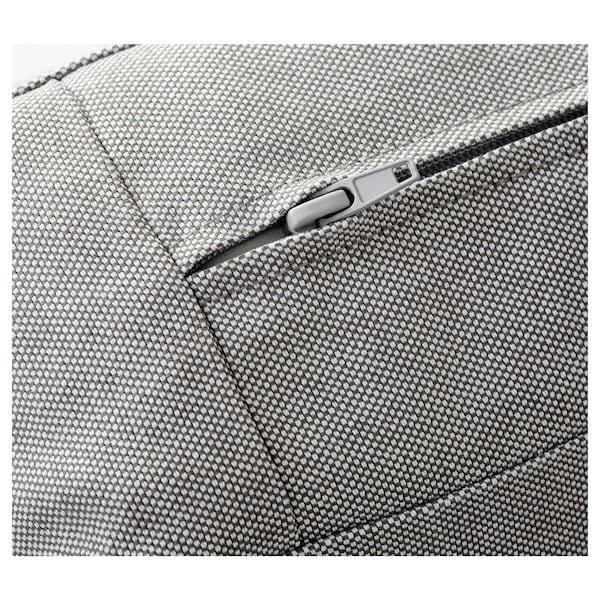 KIVIK corner sofa, 6-seat with chaise longue/Ramna light grey 163 cm 83 cm 124 cm 387 cm 257 cm 24 cm 60 cm 45 cm