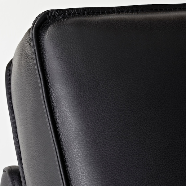 KIVIK corner sofa, 6-seat with chaise longue/Grann/Bomstad black 163 cm 83 cm 124 cm 387 cm 257 cm 24 cm 60 cm 45 cm