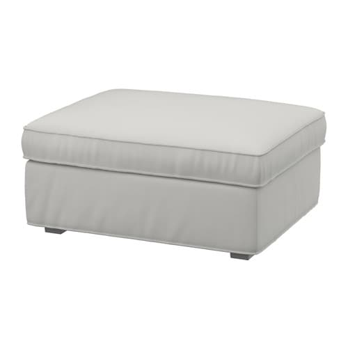 IKEA KIVIK footstool with storage Big, practical storage space under the seat.