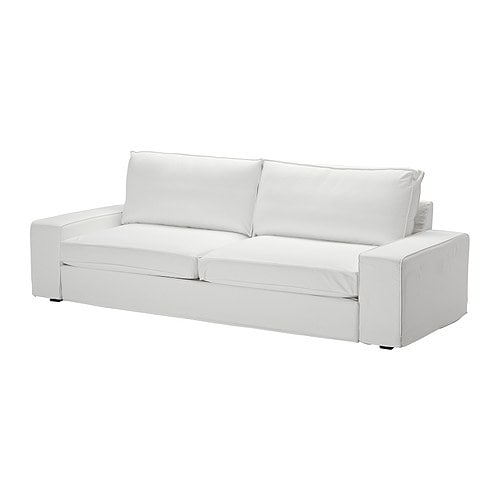 KIVIK Three-seat sofa-bed cover IKEA Easy to keep clean; removable, machine washable cover.