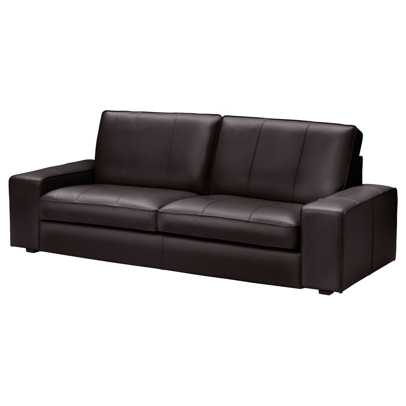 Kivik three seat sofa grann bomstad dark brown ikea for Sofa kivik 3 plazas