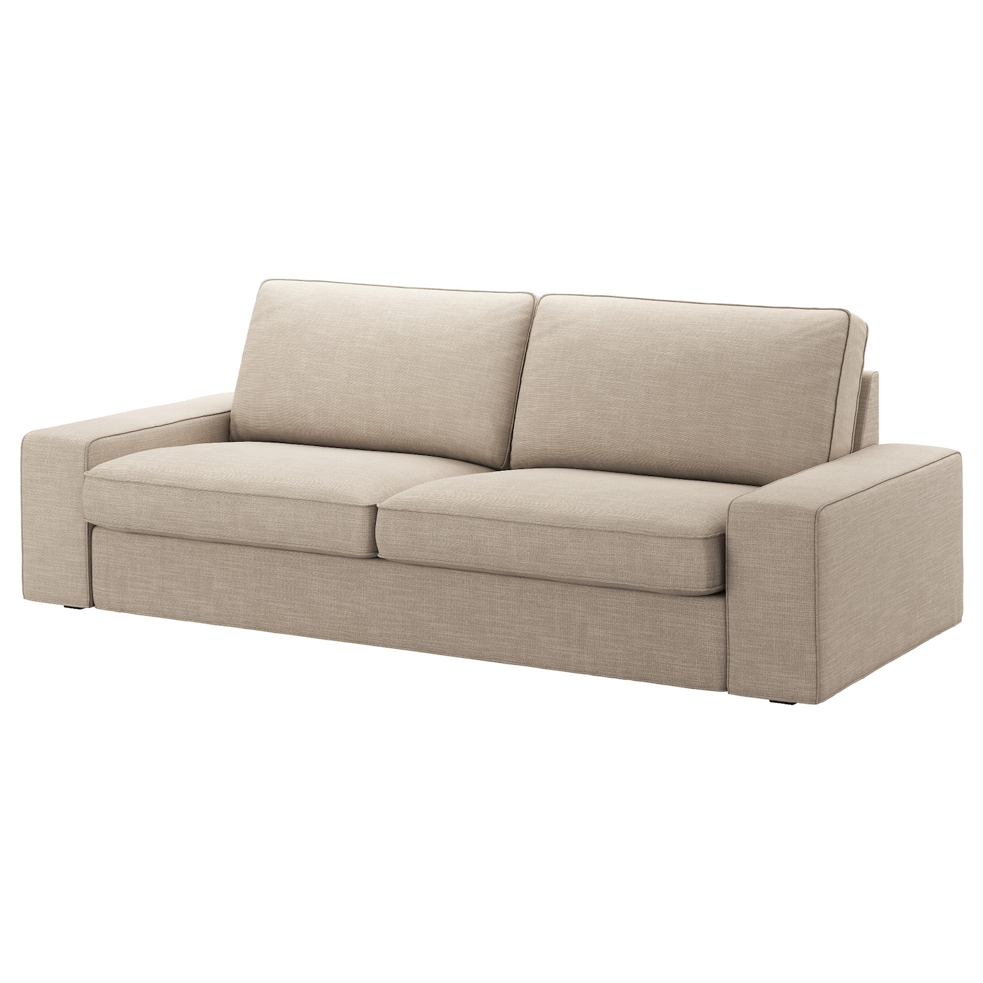 Kivik Three Seat Sofa Hillared Beige Ikea