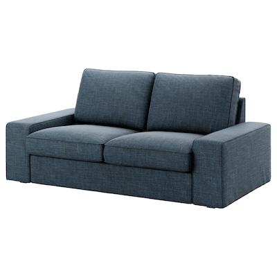 KIVIK Two-seat sofa, Hillared dark blue
