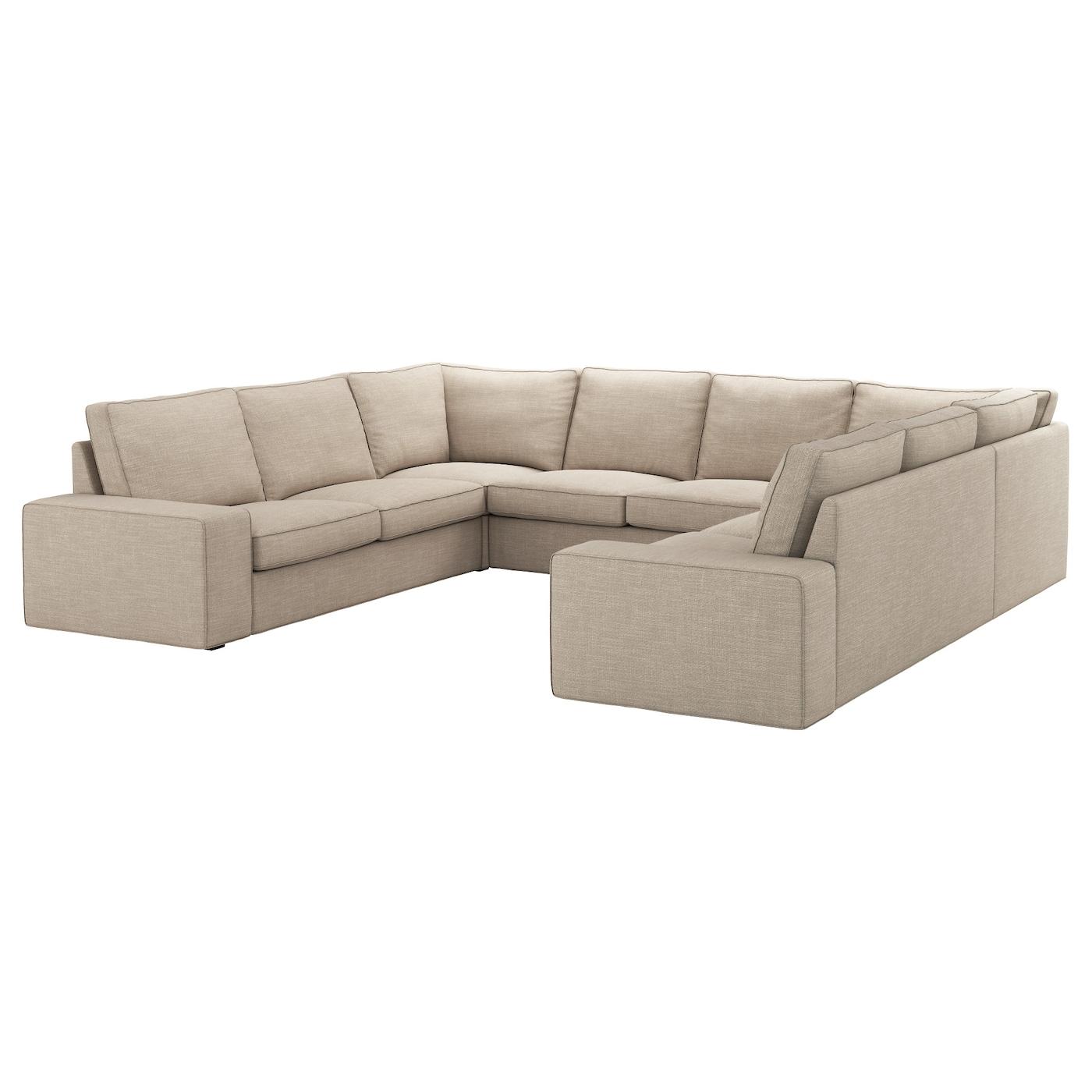 KIVIK U shaped sofa 6 seat Hillared beige IKEA
