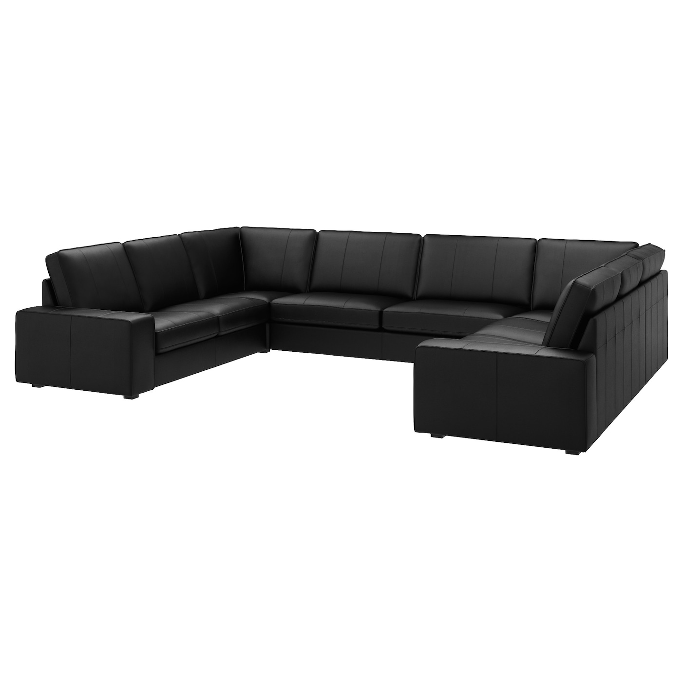 KIVIK U shaped sofa 7 seat Grann bomstad black IKEA