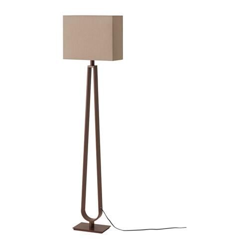 Klabb floor lamp light brown bronze colour ikea for Floor lamp dublin