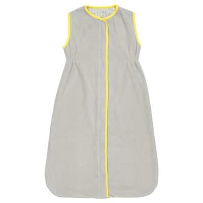 KLÄMMIG sleeping bag grey/yellow 84 cm