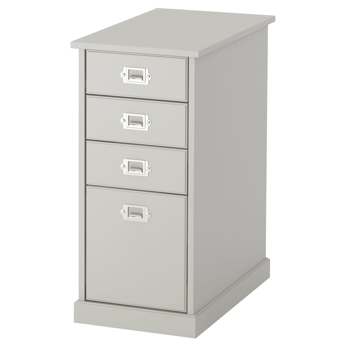 Klimpen drawer unit light grey 33x70 cm ikea for Meuble classeur suspendu