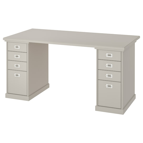 KLIMPEN Table, light grey, 150x75 cm