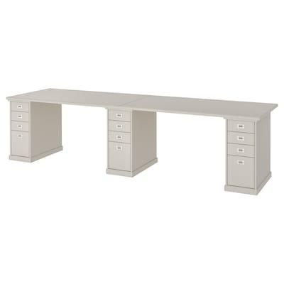 KLIMPEN Table, light grey, 300x75 cm