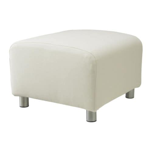 KLIPPAN Pouffe cover IKEA Easy to keep clean; removable, machine washable cover.