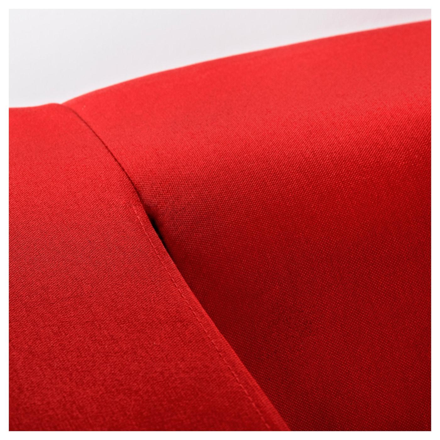 KLIPPAN Two seat sofa Flackarp red orange IKEA