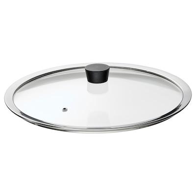 KLOCKREN Pan lid, glass, 33 cm