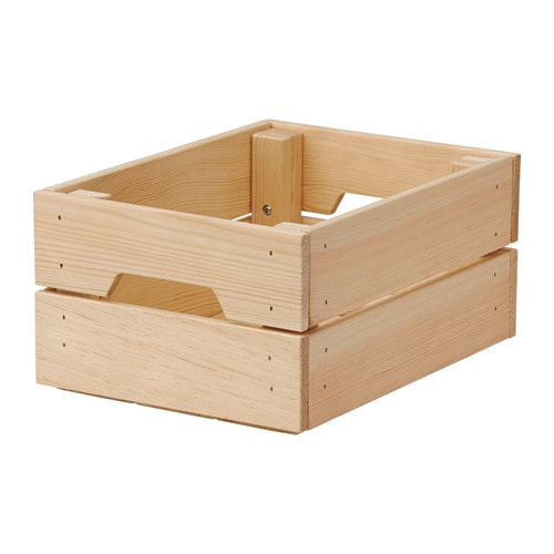 Ikea Knagglig Box Perfect For Storing Cans And Bottles Since The Wooden Is Sy
