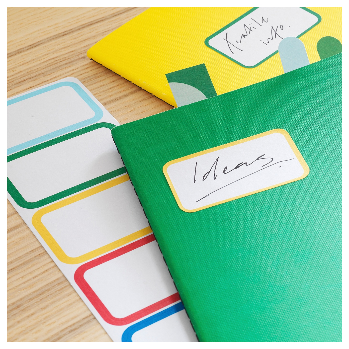 IKEA KNALLGUL note-book The notebook's shape lasts longer thanks to the rounded corners.