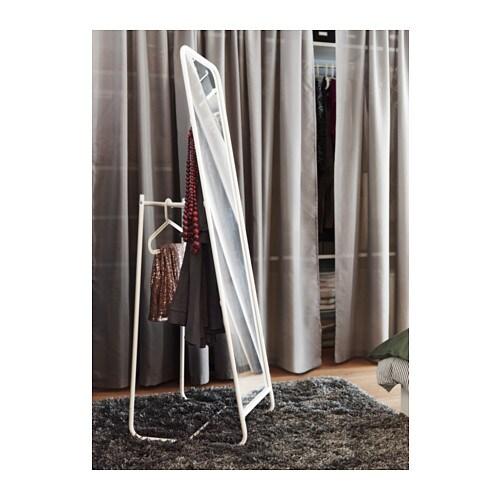 Knapper Standing Mirror White 48x160 Cm Ikea