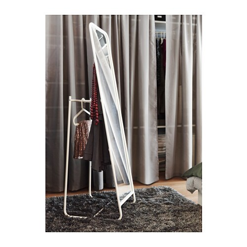 Knapper standing mirror white 48x160 cm ikea for Miroir en pied ikea