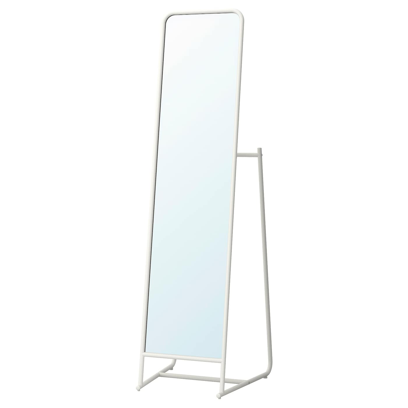 IKEA KNAPPER standing mirror Provided with safety film - reduces damage if glass is broken.