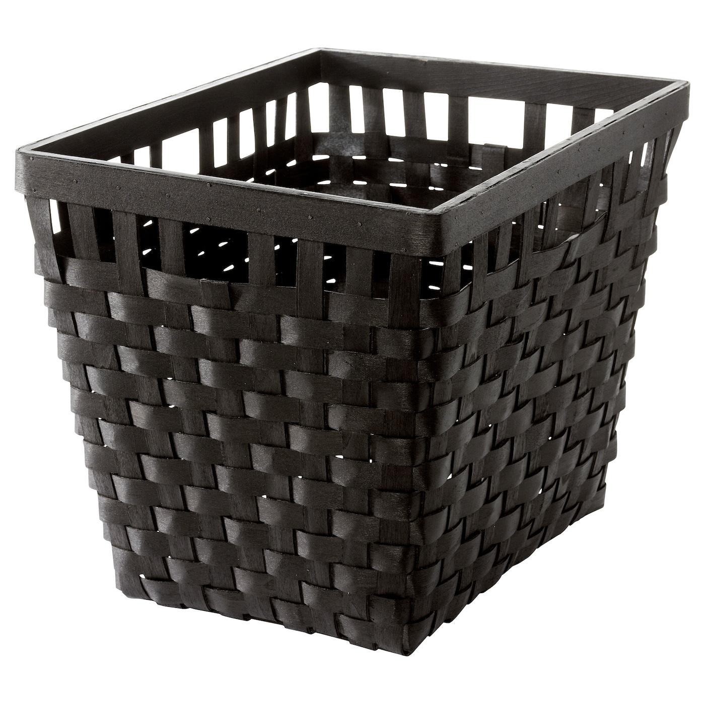 Knarra Basket Black Brown 38x29x30 Cm Ikea