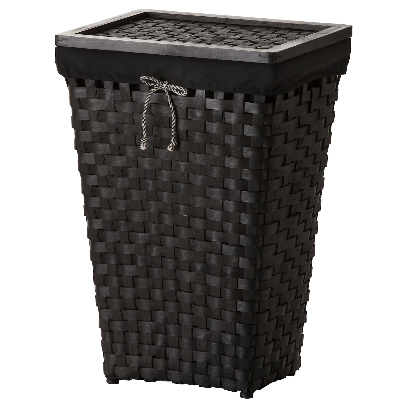 IKEA KNARRA laundry basket with lining The plastic feet protect the laundry basket from moisture.