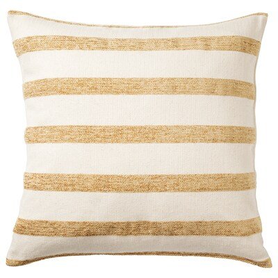 KNIPPARV cushion natural golden-yellow/striped 50 cm 50 cm 750 g 1090 g
