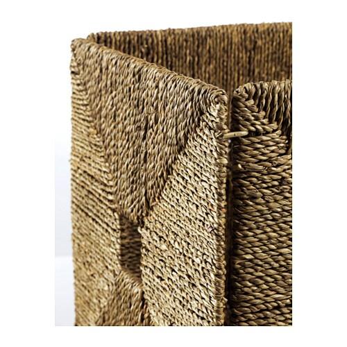 Knipsa basket seagrass 32x33x32 cm ikea - Panier de basket gonflable ...