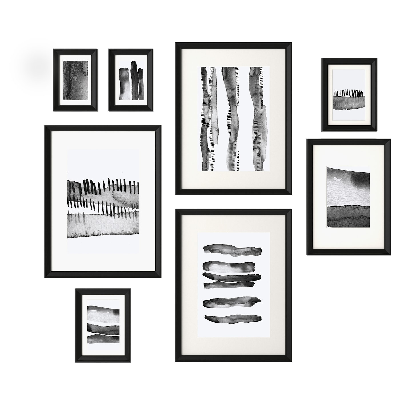 Knoppng frame with poster set of 8 black ikea ikea knoppng frame with poster set of 8 motif created by hanna dalrot jeuxipadfo Image collections